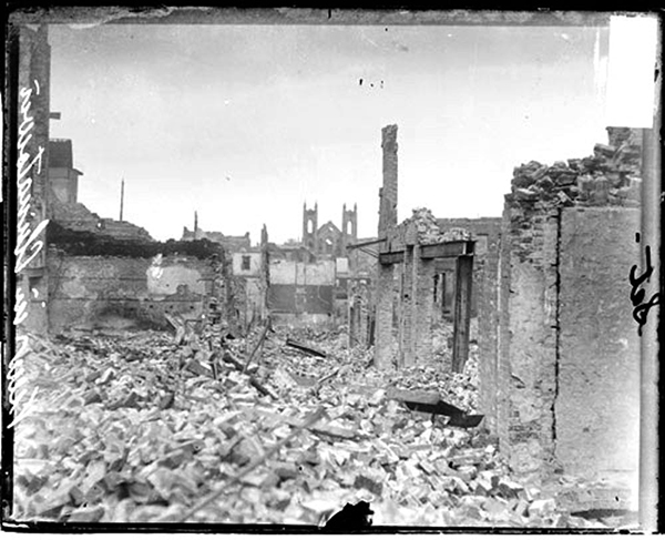 Disaster zone: San Francisco's Chinatown, after the 1906 earthquake.